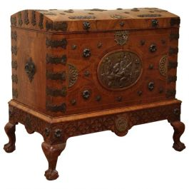 English 18th Century Chippendale Travel Chest