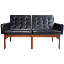 Leather Moduline Sofa France & Son by Gjerlov-Knudsen & Lind, Danish 1960's