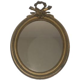 Wood And Golden Stuck Louis The Xvith Style Mirror