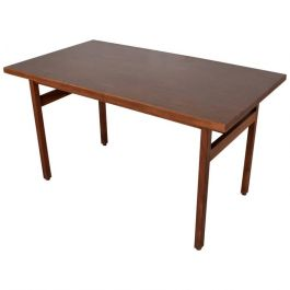 1950s Walnut Table Desk By Jens Risom
