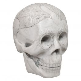 Vintage Decorative Skull Ornament, English, Marble, Showpiece, Dominic Hurley