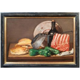 Spanish Still Life Oil on Canvas Painting