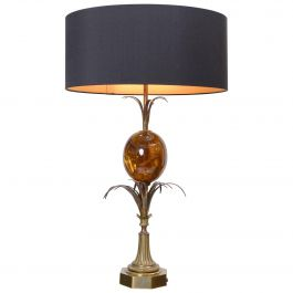 Maison Charles Fractured Resin Ostrich Egg Table Lamp, France, circa 1970