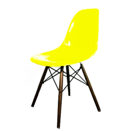 Eames Herman Miller Dsw Side Chair In Canary Yellow