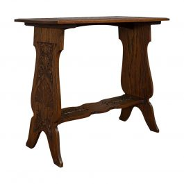 Antique Carved Side Table, Italian, Oak, Occasional, Lamp, Edwardian, circa 1910