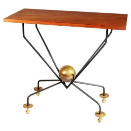 French Mid-Century Modernist Console or Center Table