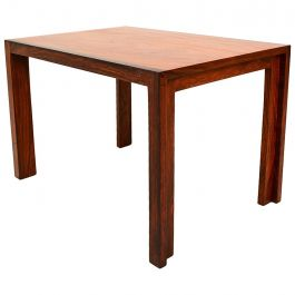 Solid Rosewood and Mahogany Side Table
