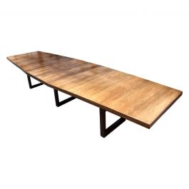 Large Scandinavian Conference or Dining Table, circa 1960