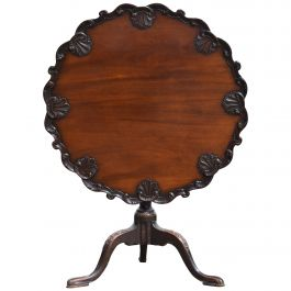 19th Century English Victorian Mahogany Chippendale Style Supper Table