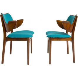 A Pair of Hans Olsen Shell Chairs For Bramin Mobler, Danish 1950's