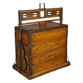 Antique Marriage Chest, Asian, Chinese Elm, Carved Dowry Trunk, circa 1900