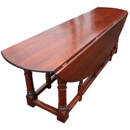 Large 18th Century Style Irish Fruitwood Wakes Table