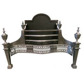 Polished Steel Georgian Style Fire Basket