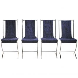 Set of Four Chairs by Pierre Cardin for Maison Jansen, 1970s