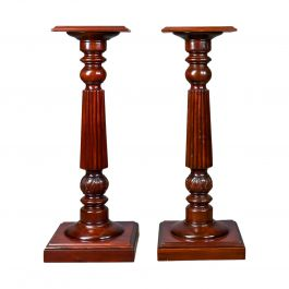 Pair of Vintage Torcheres, Victorian Taste, Mahogany Plant Stand