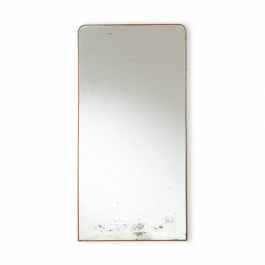 A Large 1950s Italian Brass Framed Mirror