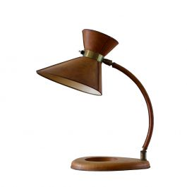 Leather Lamp in the Style of Jacques Adnet
