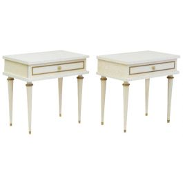 Pair of French Louis XVI Revival Bedside Tables C1950