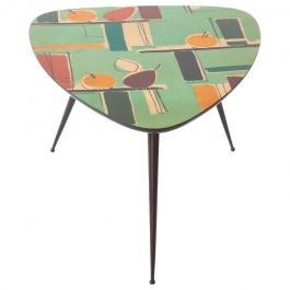 Restored Italian Mid-Century Modern Triangular Coffee Table, 1950s