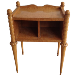STYLISH SYCAMORE AND MAPLE SIDE TABLE