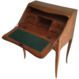 NICE WALNUT FOLDING DESK. FRENCH. END OF 18TH CENT