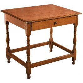 Antique Occasional Table, Victorian Oak, circa 1850