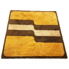 Extra Large Pop Art Multi-Color High Pile Wool Rug by Besmer, Germany, 1970s