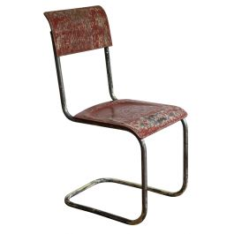 Modernist Cantilever Chair with Patina