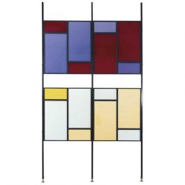 Colorful mid-century Italian room divider
