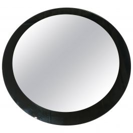 Italian Circle Glass Framed Mirror from 19670s in the Style of Max Ingrand