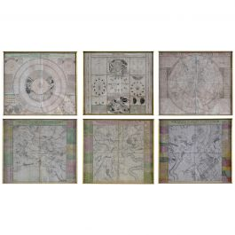 Six Engravings Celestial Charts, Cartographer, Astronomer Doppelmayr from 1740
