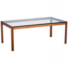 Danish Teak and Glass Coffee Table, 1960s