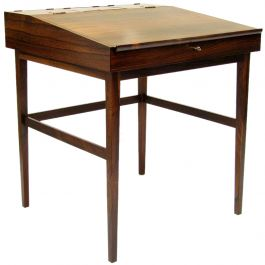 1940s Danish Rosewood NV-40 Writing Desk by Finn Juhl for Niels Vodder
