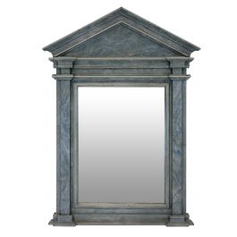 Mid Century Faux Marble Architectural Mirror