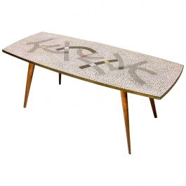 1950s Mosaic Coffee Table by Berthold Muller