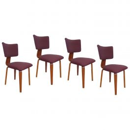 Four Mid-Century Modern Plywood Dining Chairs by Dutch Cor Alons