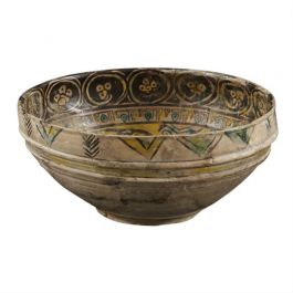 10th Century Painted Nishapur Figural Bowl