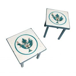 Pair of 1950s French Small Side Tables