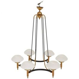 1950s Modern Italian Chandelier By Stilnovo