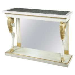 French Painted Console Table with Goat Hoof