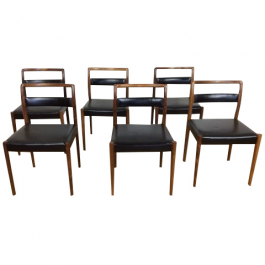 A Set Of Six Mid Century Rosewood Dining Chairs