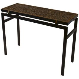 Console Table with 1920s Typography Top No.1