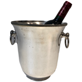 SILVER PLATED CHAMPAGNE BUCKET. FRENCH. CIRCA 1940