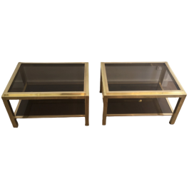 IN THE STYLE OF WILLY RIZZO. PAIR OF SIDE TABLES