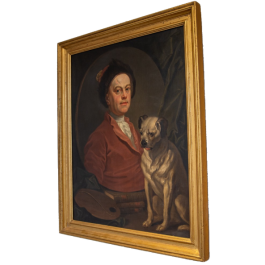 An 18th century copy of 'The Painter and his Pug'