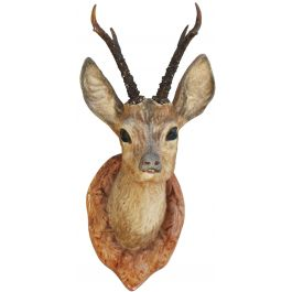 "French Vintage Deer Head Decorative Wall Plaque ""Faux Taxidermy"" C1950"