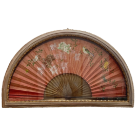 Oriental hand painted fan