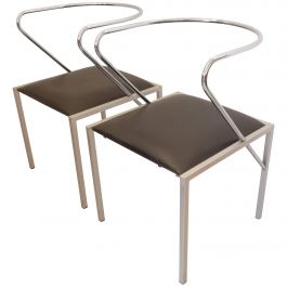 Shiro Kuramata Apple Honey Side Chairs