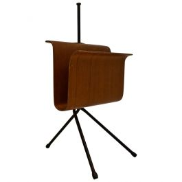 Mid-20th Century Bent Plywood Magazine Rack, Italy