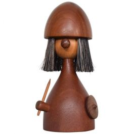 1960s Danish Teak Viking Toy Brush By Laurids Lonborg